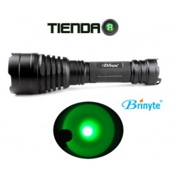 Brinyte B58, Led Verde XP-E N4, Para Caza Mayor