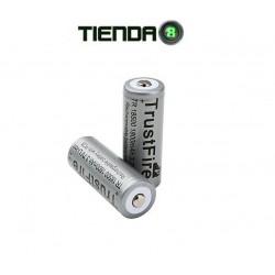 Bateria De Litio 18500, 3.7v - 1800mAH - TrustFire Gris