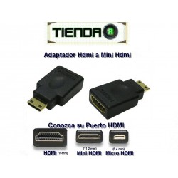 Adaptador Hdmi a Mini Hdmi Para Camaras, Tablets, etc