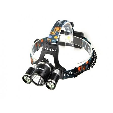 Pack Linterna de Cabeza RJ3000 + Baterías 18650 y Cargador