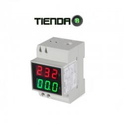 Voltímetro y Amperímetro Digital D52-2042 Para Riel DIN