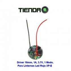 Driver Regulador 16mm, 1.0A, Para Linternas Rojas Led XP-E