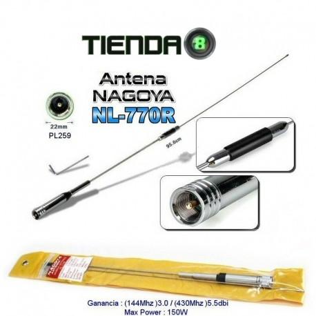 Antena Nagoya NL 770R, Conector PL-259, Dual Banda