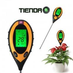 Medidor 4 en 1,  PH, Luz, Humedad del Suelo y Temperatura