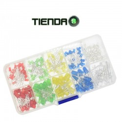 Kit de 200 Led Colores, Rojo, Verde, Amarillo, Azul y Blanco