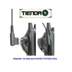 Adaptador De Audio Para Motorola Pro5150, Pro7150 y Otros