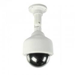 Cámara Domo De Seguridad Falsa Con Luz Intermitente