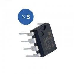 Pack de 5 unidades de clock NA555 para Arduino