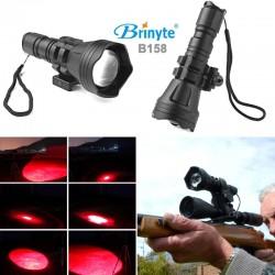 Linterna Roja Profesional B158 Brinyte, Con Zoom