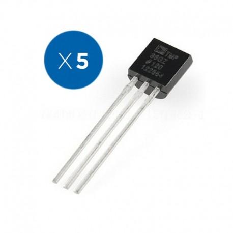 Pack de 5 Unidades de Sensores de Temperatura TMP36