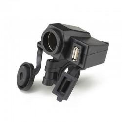 Cargador USB 5V, 2A y Salida 12Vdc para Motocicletas