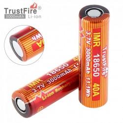 Baterías Trustfire IMR18650 - 3000mAh, 2 Unidades