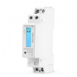 Medidor de Energía DDS518L kWh 5-32A AC 220V 50Hz Riel Din