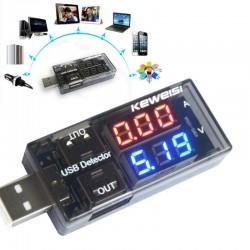 Amperimetro Voltimetro Usb Para Medir Carga De Dispositivos