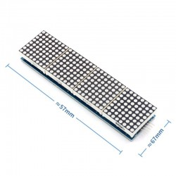 Módulo 4 X Matriz Led 8x8 MAX7219 De Puntos Para Arduino