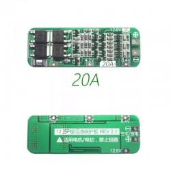 3S 20A BMS Circuito Cargador Para Baterías Li-Ion de 3x3.7V