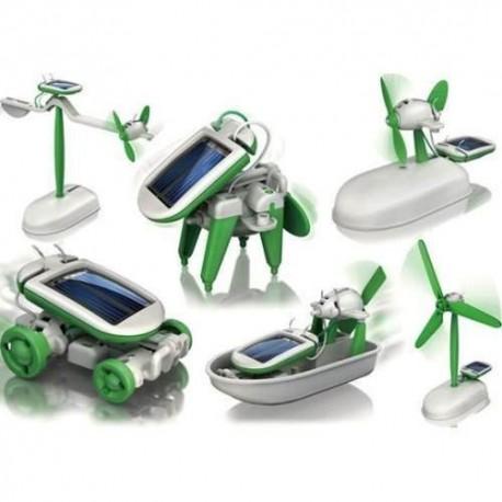 Kit De 6 Robots Solares, Juguetes Muy Novedosos