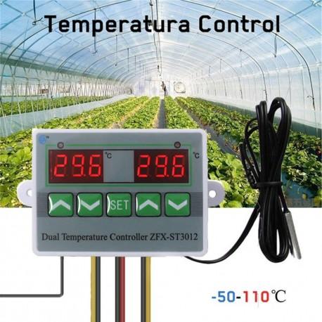 Control de Temperatura Dual, Sonda NTC, ZFX-ST3012