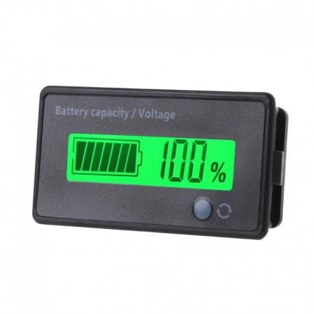 Medidor Digital del % de Carga de Baterías Li ion o Ácidas