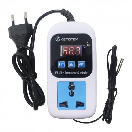 Controlador de Temperatura Digital, Termostato KT3008, -50 a 110 ºC