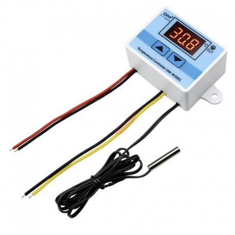 Control De Temperatura W3001 Para 12Vdc, Fácil Configurar