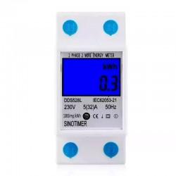 Medidor KWH, Voltaje Corriente, Potencia, 220VAC, 50Hz, DDS528L