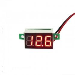 Mini Voltímetro Digital Para DIY, Rango 2.5-30Vdc