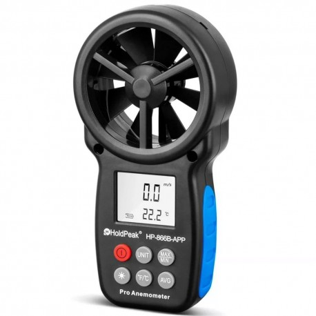 Anemómetro Digital Holdpeak HP 866B Profesional