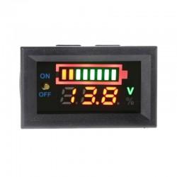 Medidor de Carga Para Baterías PB de 12V, 8 Líneas.