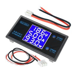 Voltímetro, Amperímetro y Wattmetro DC, 50V, 5A , 250 W