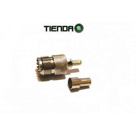 Conector SO-239 Crimpeable, Para Cable RG-58