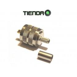 Conector PL-259 Crimpeable Para Cable RG-58 y Otros