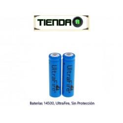 Batería 14500, UltraFire, Sin Protección