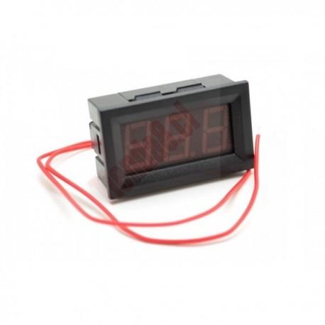 Mini Voltímetro Digital Para Embutir, Rango 2.5-30Vdc