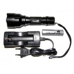 Linterna TrustFire C8 XM-L T6, Batería UltraFire y Cargador