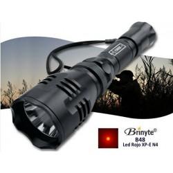 Linterna Lanzadora Brinyte B48 Led Rojo XP-E, 145 Lúmenes