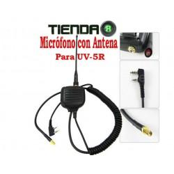 Microfono, Parlante y Antena Para Baofeng UV-5R y Otros Modelos