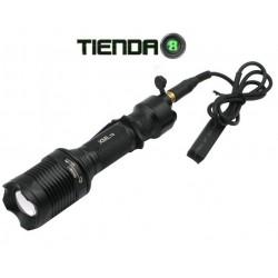 Linterna de Caza con Zoom Y Switch Remoto Integrado ZY-T27