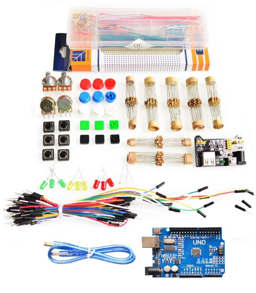 Kit arduino uno r incluye protoboard tienda