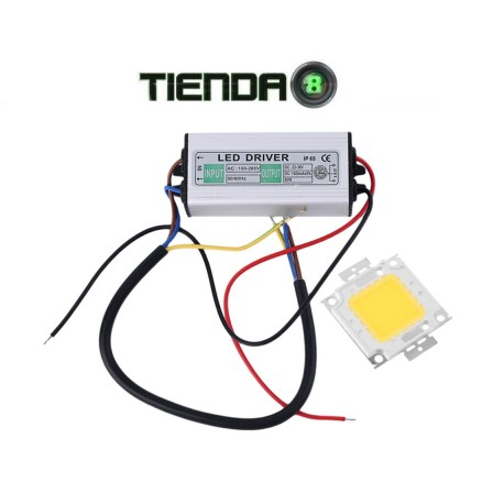 Driver 50W, Corriente 1.5A, ChipLed Epistar o Similares