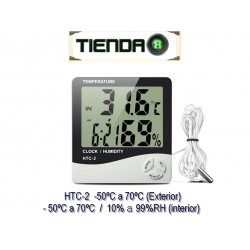 Termómetro Higrómetro Digital Interior Exterior HTC-2