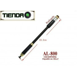 Antena Telescopica Pryme AL-800 144 A 430mhz, 50 Watt