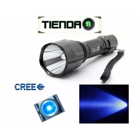 Linterna Para Caza/Pesca Ultrafire C8 Led Azul - 180 Lúmenes
