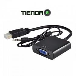 Adaptador Salida HDMI a VGA con Audio 3.5mm