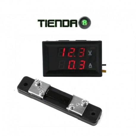 Voltímetro y Amperímetro Digital, 30V, 50A, Multiples Usos!