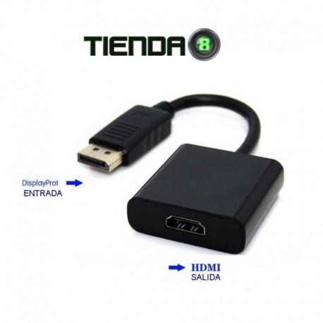 Adaptador DisplayPort Macho a HDMI Hembra