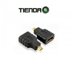 Adaptador Micro HDMI a HDMI para Cámaras, Smartphones, Tablet, etc.