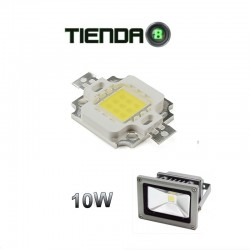 ChipLed 10W, 300mA, Blanco Neutro Para Proyector Exterior