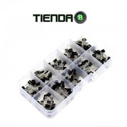 Kit de 200 Transistores, 2N2222, 2N2907, BC327, BC337, etc