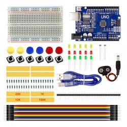 Kit Starter Arduino Uno R3 , Protoboard Y Accesorios